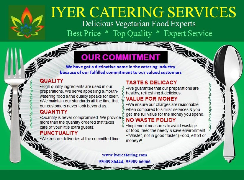 Iyer Catering Services Delicious Vegetarian Food Experts